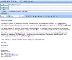 Ideas Collection Example Of Email Cover Letter For Job Application ...