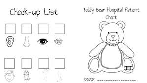 Teddy Bear Chart Teddy Bear Hospital Patient Chart