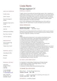 Design Engineer Sample Resume 8 Engineering CV Template Engineer  Manufacturing Resume Industry Construction