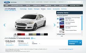 Official  Ford Fusion Configurator Live  Fusion Starts - Ford fusion exterior colors
