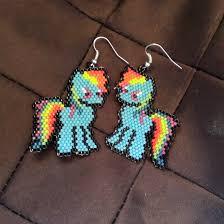 Brick Stitch Patterns Gorgeous MLP Rainbow Dash Brick Stitch Earring Pattern Kittyloaf Designs