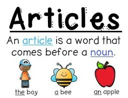 Article With Chart Articles Anchor Chart The A An Grammar Anchor Charts