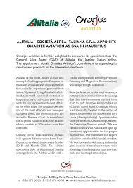 Facebook Of Omarjee General In Alitalia Aviation Agent Sales -