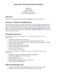 Automotive Technician Resume 13 Great Summary Of Skills And