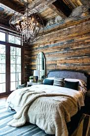 rustic elegant bedroom designs make a cabin bedroom with fuzzy throws and a chandelier for a