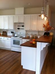 Raised Kitchen Floor A Raised Countertop Over Your 12 Cabinets Facing The Dining Area