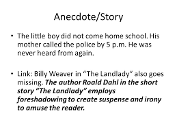 introduction and conclusion paragraphs ppt video online anecdote story the little boy did not come home school his mother called the