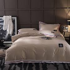 papa mima solid color light brown duvet cover sets 100 cotton queen king size flat sheet