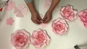 Paper Flower Video Mini Rose Paper Flower Free Video Tutorial_how To Make Paper
