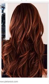 Fashion Red Hair With Caramel Highlights Scenic Medium Length Hair