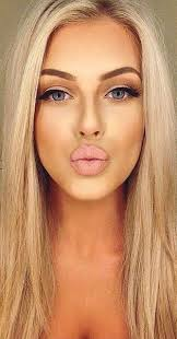 shocking makeup for blue blonde hair fair skin picture of