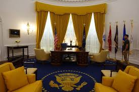 Nixon oval office Wallpaper Replica Of The Nixon Oval Office At The Nixon Library Photo Jeremy Thompson Wbur The Real Stars Of The Oval Office The Curtain Guru