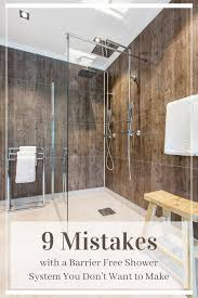 9 mistakes with a barrier free shower system you don t want to make