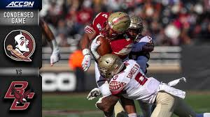 Boston College Football Depth Chart 2013 Florida State Vs Boston College Condensed Game Acc Football 2019 20