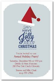 Christmas Holiday Invitations Jolly Jolly Holiday Christmas Hat Invitations