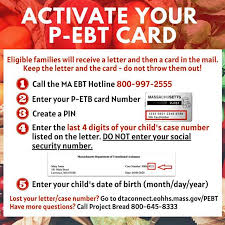 pandemic ebt instructions to activate card