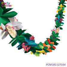 Paper Flower Suppliers China Customized Hawaiian Tissue Flower Garland Paper
