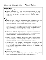 how to write an outline for a paper middle school co cover letter compare and contrast essay outline example
