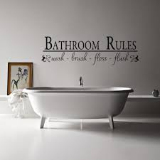 bathroom wall decor pictures. Perfect Wall Guest Bathroom Wall Decor With Stickers And Small Framed Painting Behind  Freestanding Bathtub For Pictures