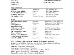 Download Sample Theater Resume Haadyaooverbayresort Com