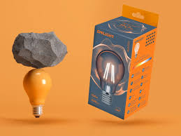 Lamp Packaging Design Ice And Fire Packaging Design Of Light Bulbs With Filaments