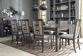 ashley chadoni 9 piece smokey grey dining room set furniture d624 ashleyfurniture contemporary