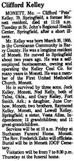 "Clifford ""Pete"" Kelley (1905-1985) - Find A Grave Memorial"