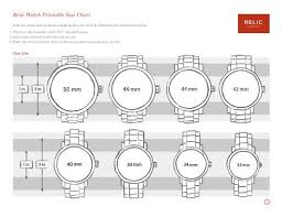 Relic Watch Battery Chart Fossil Watch Size Chart Best Picture Of Chart Anyimage Org