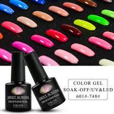 <b>MEET ACROSS Nail</b> Art <b>Gel</b> Color <b>Polish</b> Soak-off UV/LED <b>Manicure</b> ...