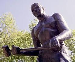 John Henry - Railroad worker made famous by American folk ballad. | John  henry, Historical figures, West virginia