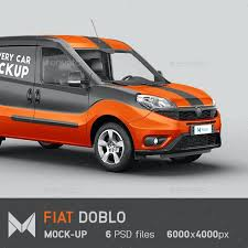 The best free mockups in one place. Fiat Doblo Delivery Car Mockup By Mockupix Graphicriver