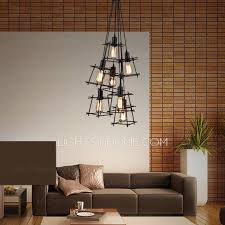Industrial contemporary lighting Semi Flush Mount Incredible Modern Style Chandeliers Light Square Shaped Shade Industrial Style Lighting Terre Design Studio Fabulous Modern Style Chandeliers Modern Chandelier Lighting