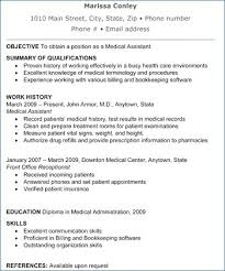 Medical Assistant Resume Skills Stunning Medical Assistant Resume Templates Lovely Sample Resume Summary