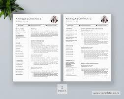 2 Page Cv Template Cv Template Professional Curriculum Vitae Minimalist Cv