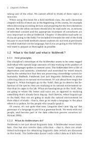 linguistic fieldwork  15