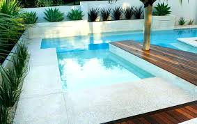Stunning hardwood swimming pool decks ideas Backyard Pool Modern Pool Deck Swimming With Wooden And Concrete Three Types Of Outdoor Decks Wood Farmamarketing Stunning Pool With Precast Concrete Deck And Stepping Stones Design