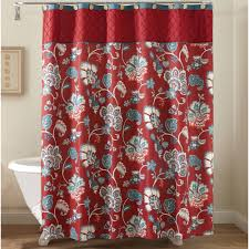 amazing design anna linens bathroom sets better homes and gardens red jacobean fabric shower curtain s