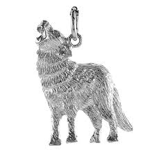 auntie s treasures sterling silver 20 1mm box chain howling wolf or coyote pendant necklace com