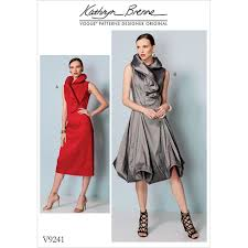 Vogue Patterns Dresses Amazing Misses Princess Seam Dresses With Shaped Stand Collar Vogue Sewing