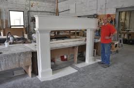 cast concrete fireplace surround