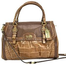 Coach 18611 Carryall Medium Handbag Brown Handbag Satchel in Toffee ...
