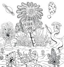 trippy coloring book books pages mushrooms kids as well mushroom