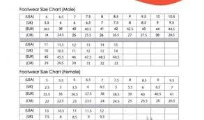 Tag Mens Womens Shoe Size Chart Nike Exhaustive Nike Mens