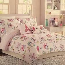 details about cynthia rowley twin twin xl paris eiffeltower watercolor comforter set free ship