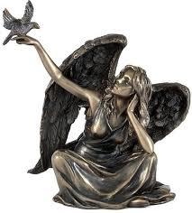 """<b>Статуэтка</b> Veronese """"<b>Ангел сидящий с</b> голубем"""", высота 15 см ..."""