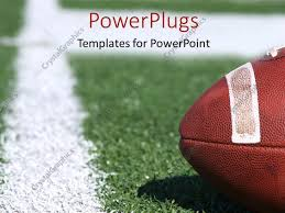 Football Powerpoint Template PowerPoint Template American Collegiate Football On A Sports Field 8