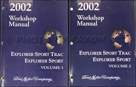 2002 ford explorer 4 door sport trac and explorer 2 door sport 2002 ford explorer sport sport trac repair shop manual original set 139 00