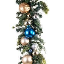 Home Depot Lighted Garland Village Lighting Company 9 Ft Pre Lit Led Celebration Ornament Garland