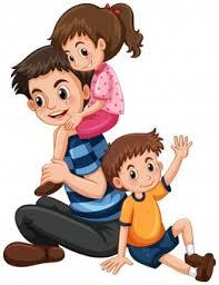 Resultado de imagen de padre e hijo felices llevandole a hombros dibujos