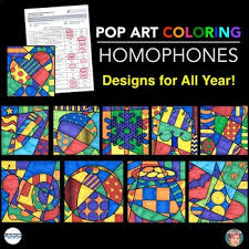 Small Picture Homophone Coloring Sheets Collection incl Designs for Entire Year